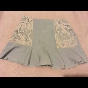 Free people Native Rose blue skirt with lace.